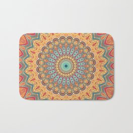 Jewel Mandala - Mandala Art Bath Mat