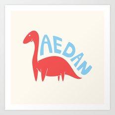 Aedanosaurus Art Print