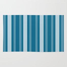 Dark Cerulean Victorian Lady Stripe Rug