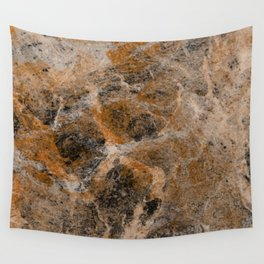 Rusting Marble - Abstract Marble Effect Painting in gold, bronze, black and white Wall Tapestry