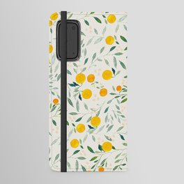 Oranges and Leaves Android Wallet Case