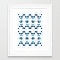 ikat Framed Art Prints featuring Ikat by Lauren Heslop