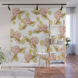 Pink n Gold Wall Mural