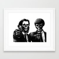 pulp Framed Art Prints featuring Pulp Fiction by Motohiro NEZU