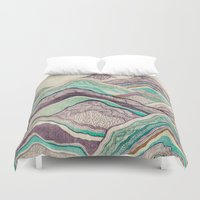 minerals Duvet Covers featuring Hillside by rskinner1122