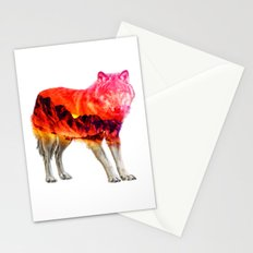 Red Wolf Landscape Stationery Cards