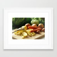 vegetable Framed Art Prints featuring Vegetable stew by Tanja Riedel