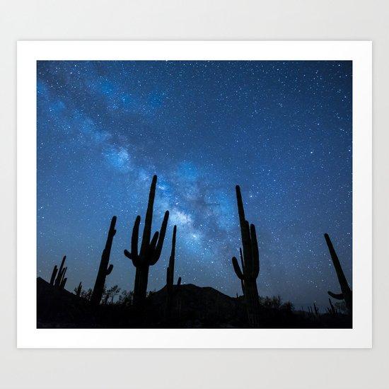 Milky Way, Dreams and Succulents Art Print