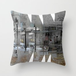 As incisions, or claws scraping, teeth digging in. [C] Throw Pillow