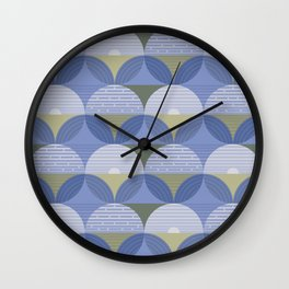 Blueberry Fields Medium Wall Clock