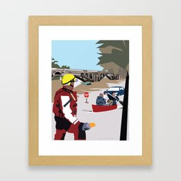 SC Flood Framed Art Print
