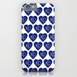 KC Love Navy & Blue iPhone Case