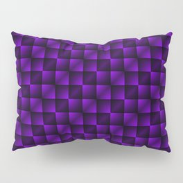 Fashionable large lozenges from small violet intersecting squares in gradient dark cage. Pillow Sham