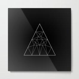 Abstraction 029 - Minimal Geometric Triangle Metal Print
