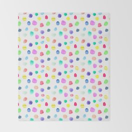 Watercolor confetti Throw Blanket