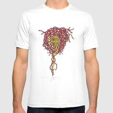 Mind Knot MEDIUM Mens Fitted Tee White