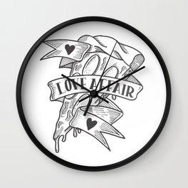 PIZZA LOVE AFFAIR Wall Clock