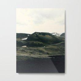 Car Ride Through Icelandic Beauty Metal Print