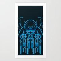 robot Art Prints featuring Robot by Martin Laksman