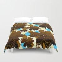 magnolia Duvet Covers featuring Magnolia  by Saundra Myles
