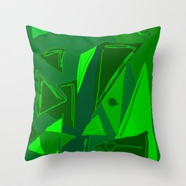 Cages at the Border Green #Abstract #Geometric #PoliticalArt Throw Pillow