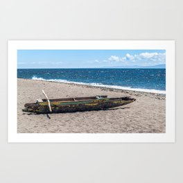 Sea Kayak Stripped By Nature Art Print