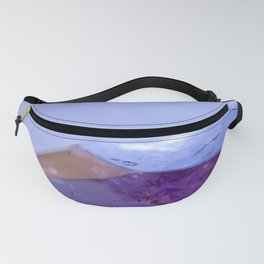 Purple Amethyst Crystal Photo Print // Title: Lilac Mess Fanny Pack