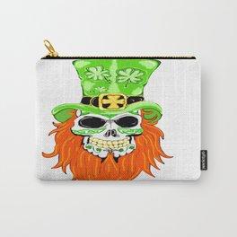 Shamrock Sugar Skull Carry-All Pouch