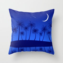 Blue Island Starry Sky Throw Pillow