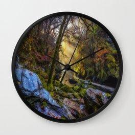 Autumn Fairy Glen Wall Clock