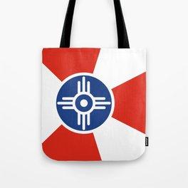 Wichita Kansas city flag united states of america Tote Bag