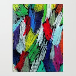 Colorful Oil Paints on Black Paper Poster