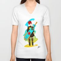 transistor V-neck T-shirts featuring Transistor by Jamerson