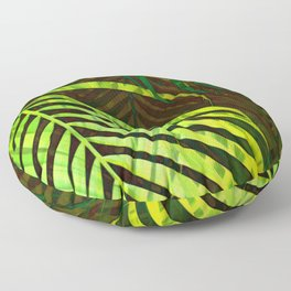 TROPICAL GREENERY LEAVES no8a Floor Pillow