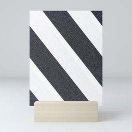 White & Black Stripes Mini Art Print