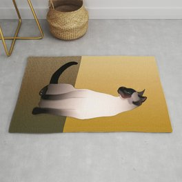 Portrait of a Seal Point Siamese Cat Rug