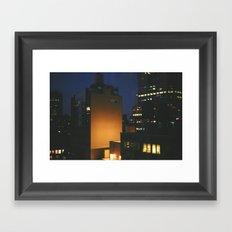 Manhattan After Dark Framed Art Print