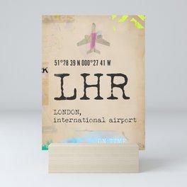 Heathrow airport Mini Art Print