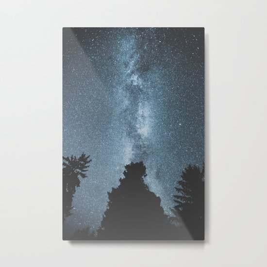 Stars over the Forest Metal Print