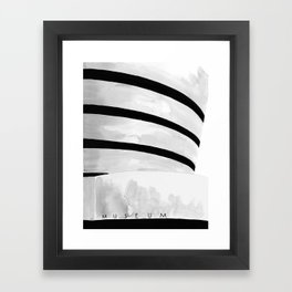 Architecture sketch of the Guggenheim Museum New York Framed Art Print