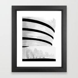 Architecture sketch of the Guggenheim Museum New York Framed Art Print