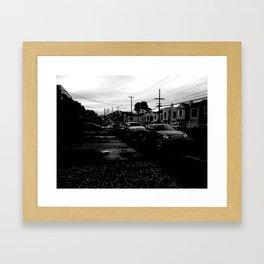 Empty Street Framed Art Print