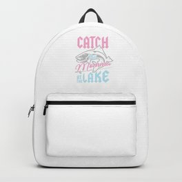 Bass Fishing Fisherwoman Fisher Catch This Momma At Lake Backpack
