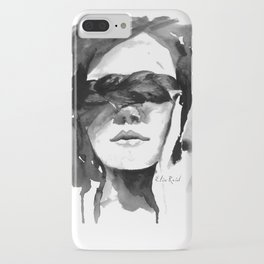 Watercolour Fashion Illustration Girl with the Plait in Her Hair iPhone Case
