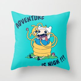 Adventure is Nigh!!! Throw Pillow