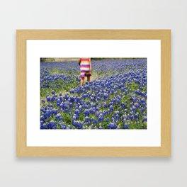 Among the Bluebonnets Framed Art Print