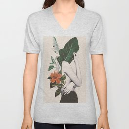 natural beauty-collage 2 Unisex V-Neck