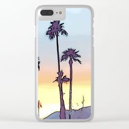 Layered Sunset Clear iPhone Case