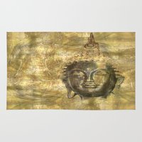antique Area & Throw Rugs featuring Buddha antique by Digital-Art
