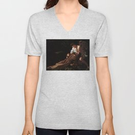 Saint Francis of Assisi in Ecstasy by Caravaggio (1595) Unisex V-Neck